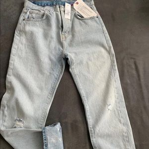 Current elliott light wash denim jeans